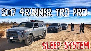 (Part23) (4K) 2017 4Runner TRD PRO Cement. Sleep & Toilet Setup. Must See!