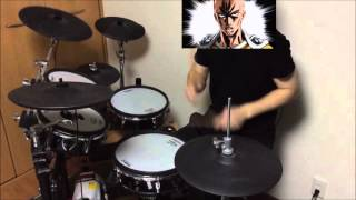 Repeat youtube video 【One Punch Man】【OP】【drum cover】【叩いてみた】