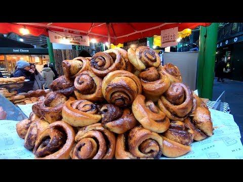 Street Food Market And Stalls At Borough Market, London