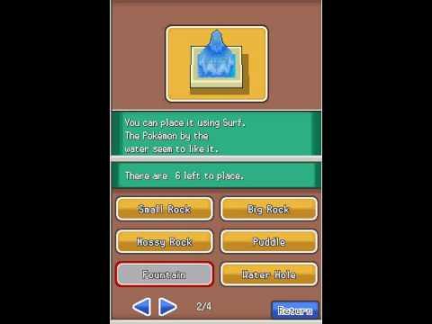 Pokemon Heart Gold Safari Zone Objects