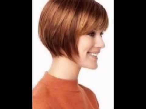 Short Bob Hairstyles With Bangs Youtube
