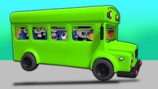 Колеса на автобусе | детские стишки | Wheels On The Bus | Baby Bao Panda | Rhymes For Kids & Babies