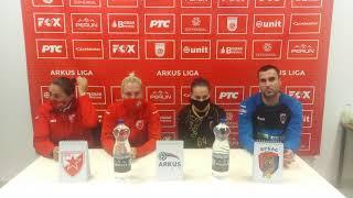 ARKUS liga 7. kolo / Crvena Zvezda - Vrbas / Izjave aktera meča nakon utakmice