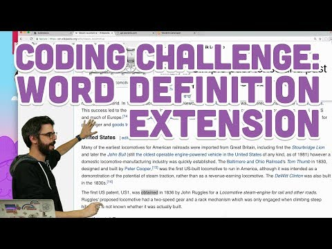 Coding Challenge #84: Word Definition Extension