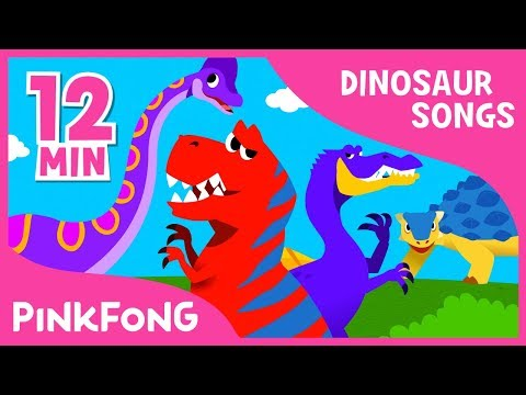 Spinosaurus vs Tyrannosaurus and more | Dinosaur Songs | + Compilation | Pinkfong Songs for Children
