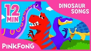 Spinosaurus vs Tyrannosaurus and more | Dinosaur Songs | + Compilation | Pinkfong Songs for Children thumbnail