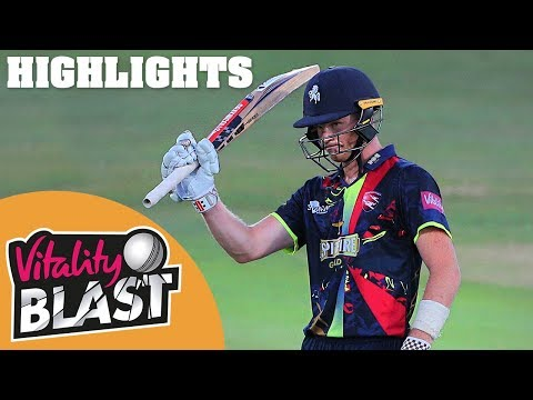 Billings Sees Spitfires Home | Kent v Essex | Vitality Blast 2018 - Highlights