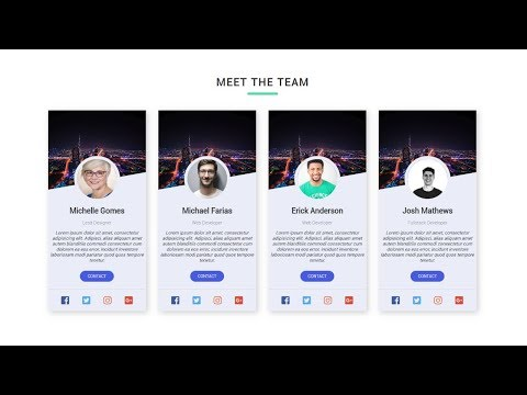 Responsive Our Team Info Cards Section | HTML And CSS Tutorial