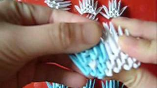 3d Origami Diamond Pattern Swan