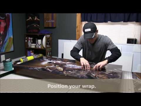 Wrapping a Cornhole Board the easy way.