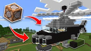 WORKING HELICOPTER Using COMMAND BLOCKS in Minecraft PE 1.1.4!! (Pocket Edition)