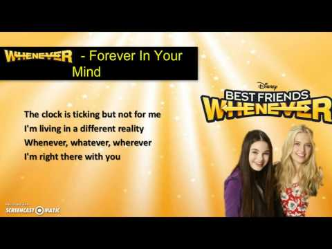 Forever In Your Mind - Whenever (from ''Best Friends Whenever'') [Lyrics Video]