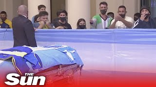 Live replay: Fans visit Diego Maradona wake as Argentina mourns