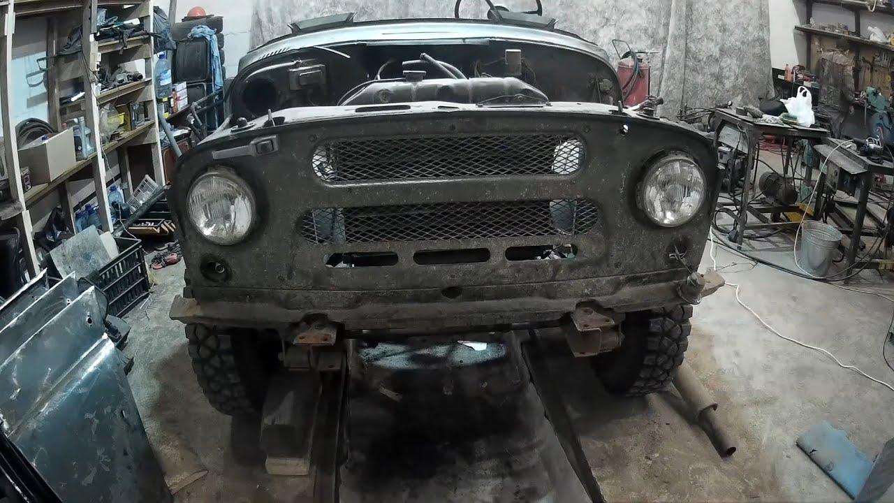 Ремонт морды УАЗ 469, обзор гайковерта. - YouTube