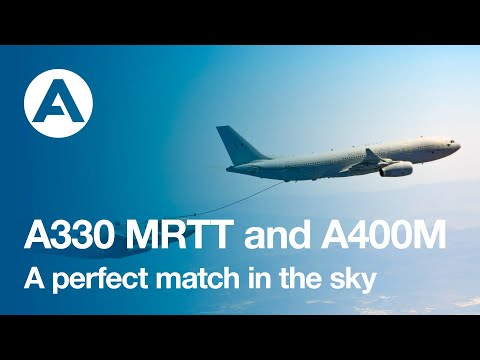 A330 MRTT and A400M. A perfect match in the sky