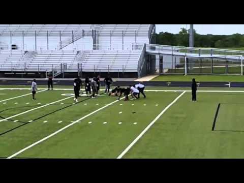 Octavio Gonzalez April 2016 CFL tryouts d-line vs o-line part III
