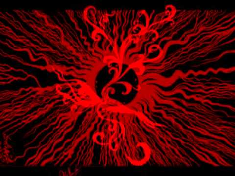 surreal abstract art red