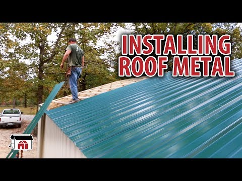 Installing Roof Metal on our DIY Shop Building Kits