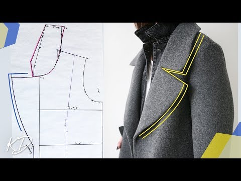 HOW TO: MAKE LAPEL & REVERE' COLLAR PATTERNS | TEDDY COAT PT 1 | KIM DAVE