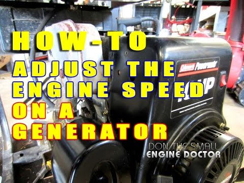 How To Adjust The Engine Speed On A Generator With