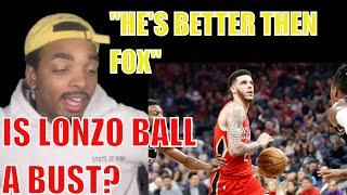 IS LONZO BALL A BUST | LONZO BALL HIGHLIGHTS REACTION VS KINGS