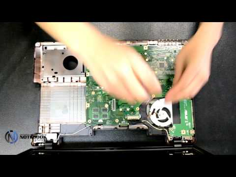 ASUS X75 - Disassembly and cleaning