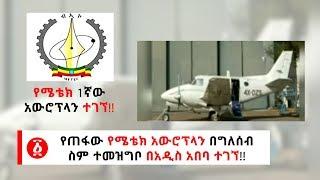 Ethiopia: [ሰበር መረጃ] የጠፋው የሜቴክ አውሮፕላን በግለሰብ ስም ተመዝግቦ በአዲስ አበባ ተገኘ!!