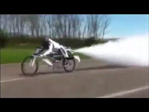 Jet Powered Bicycle Hits 163 MPH