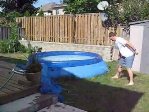 Empty A 5000 Litre Swimming Pool In Seconds Street Flood Youtube