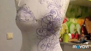 Свадебное платье. Люневильская вышивка