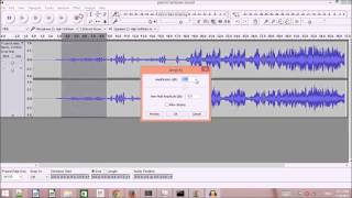 how amplify audio or music file or part of it using audacity