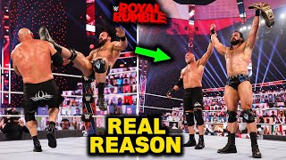 Real Reasons Why Goldberg Lost to Drew McIntyre at WWE Royal Rumble 2021 Revealed