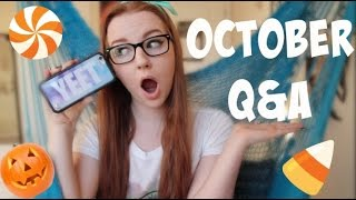 October Q&A: Feminist? Advice for Happiness? New Glasses? New Music? Thumbnail