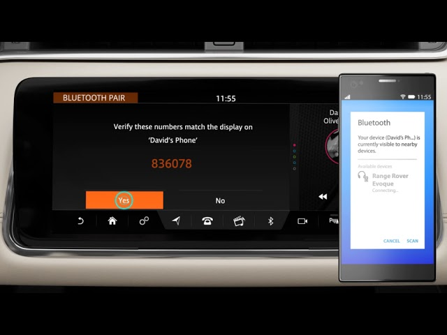 How To Use Bluetooth Phone Pairing With Touch Pro Duo Range Rover Evoque 20my Youtube
