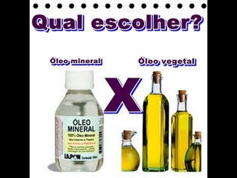 para q serve o oleo mineral
