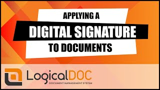 Applying a digital signature to documents