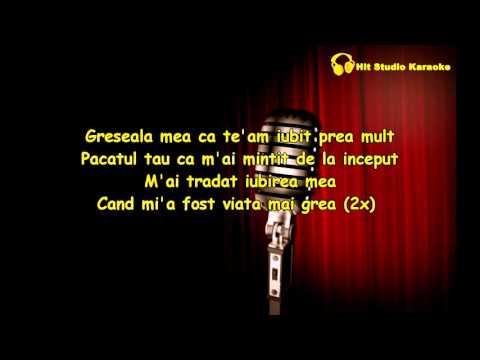 Nicolae Guta si Nicoleta Guta - Greseala mea Karaoke