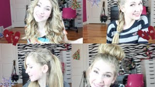 ❄ Four Quick & Cute Hairstyles for Holidays ❄ Thumbnail