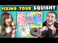 Adults React To And Try Squishy Makeovers: Fixing Your Squishies