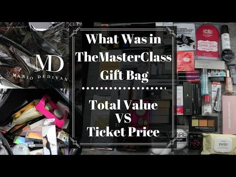What was in The Master Class by Mario Gift Bag | SHOCK! Total Value VS Ticket Price