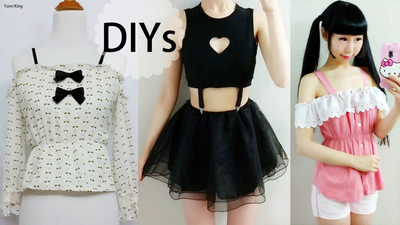 4 Diy Shirt Top Blouse Transformations Diy Heart Keyhole Suspender Top Diy Off Shoulder Blouses