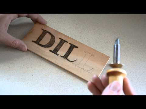 wood burning 101 pyrography letters signs for the garden