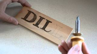 Wood Burning 101, Pyrography Letters, Signs For The Garden