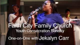 Jekalyn Carr Interview at Faith City Family Church