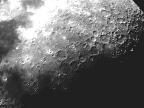 The moon through seben telescope recorded with samsung s youtube