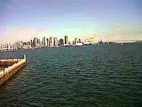 San Diego Harbor view skyline.avi