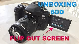 Canon EOS 80D EF-S 18-55 IS STM lens Unboxing and first Hands on