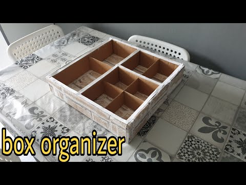 DIY How to make a cardboard drawer organizer – box organizer