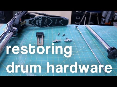 How to Restore Chrome Drum Hardware