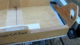 Table Saw Cross-cut Sled